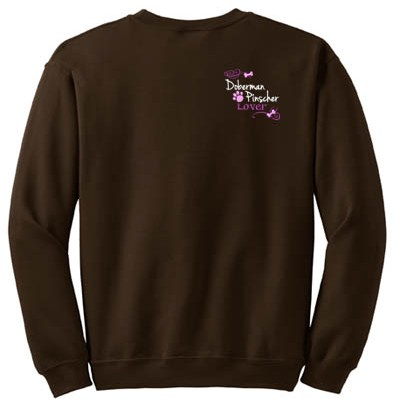 Pretty Embroidered Doberman Pinscher Sweatshirt