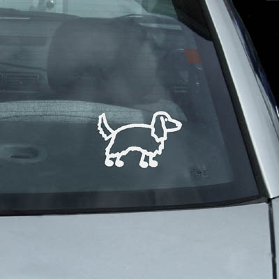 Irish Setter Stick Figure Vinyl Decals