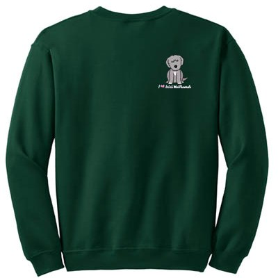 Cartoon Irish Wolfhound Sweatshirt