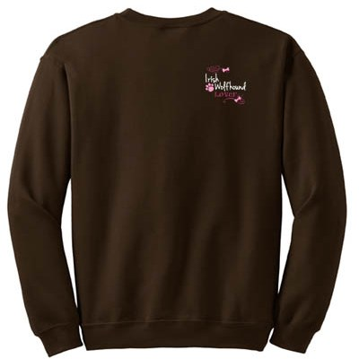 Pretty Irish Wolfhound Embroidered Sweatshirt