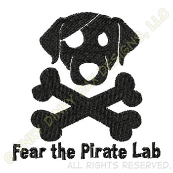 Pirate Labrador Embroidery Gifts