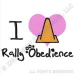 I Love Rally Obedience Embroidery