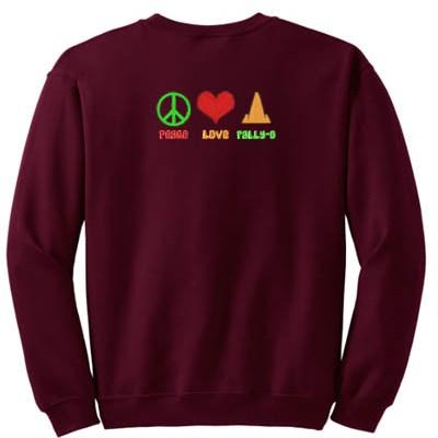 Peace Love Rally-O Embroidered Sweatshirt