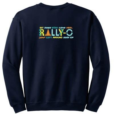 Rally-O Words Embroidered Sweatshirt