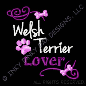Welsh Terrier Lover Embroidered Sweatshirt