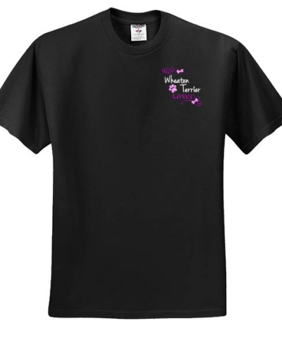 Wheaten Terrier Lover Embroidered T-Shirt