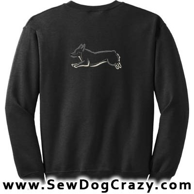 Embroidered Swedish Vallhund Sweatshirts