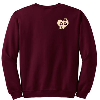 Paw Prints on Heart Sweatshirt