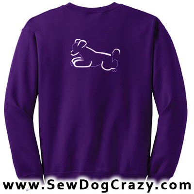 Embroidered Jumping Poodle Sweatshirts