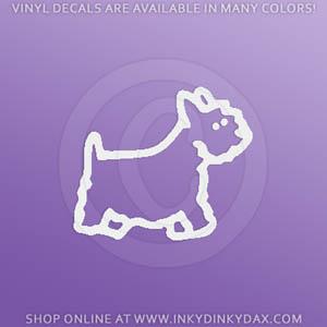 Westie Stick Figure Dog Stickers