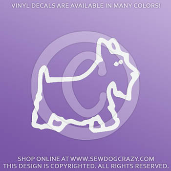 Scottie Dog Stick Figure Car Decal