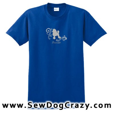 Beautiful Embroidered Poodle TShirt