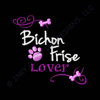 Embroidered Bichon Frise Apparel