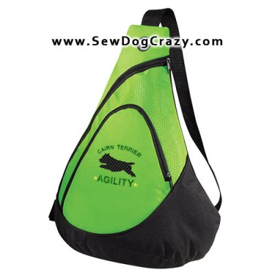 Embroidered Cairn Terrier Agility Bags