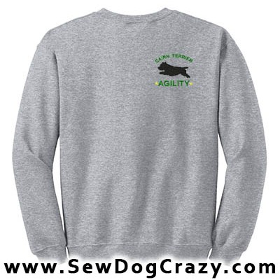 Embroidered Cairn Terrier Agility Sweatshirts