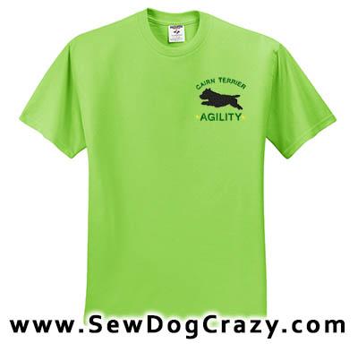 Agility Cairn Terrier Tshirts