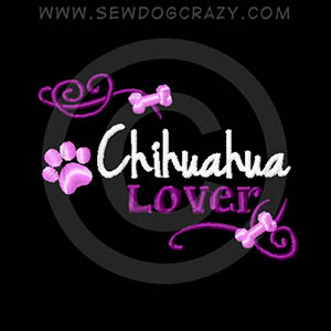 Pretty Chihuahua Embroidered Shirts