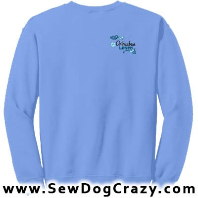 Pretty Embroidered Chihuahua Sweatshirt