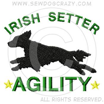 Embroidered Irish Setter Agility Shirts