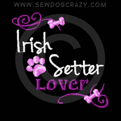 Embroidered Irish Setter Lover Shirts