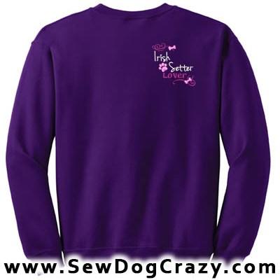 Pretty Embroidered Irish Setter Sweatshirts