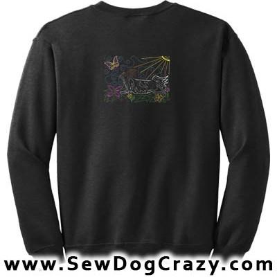 Embroidered Papillon Art Sweatshirt