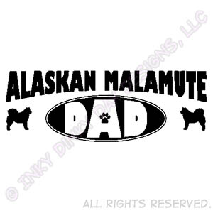 Malamute Dad Apparel