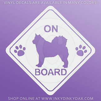 Alaskan Malamute on Board Stickers