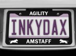 Amstaff Agility License Plate Frame