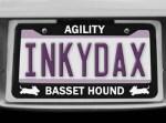 Basset Hound Agility License Plate Frame