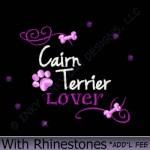 Rhinestones Cairn Terrier Embroidery