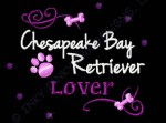Rhinestonse Chesapeake Bay Retriever Embroidery