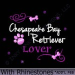 Rhinestonse Chesapeake Bay Retriever Embroidery