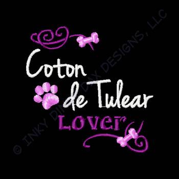 Embroidered Coton de Tulear Apparel