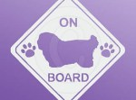 Coton de Tulear On Board Stickers