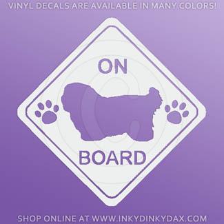 Coton de Tulear On Board Stickers