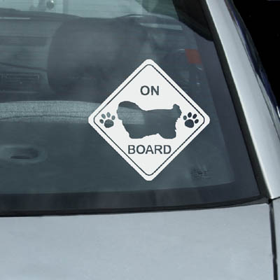 Coton de Tulear On Board Decals