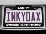 Dutch Shepherd Agility License Plate Frame