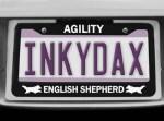 English Shepherd Agility License Plate Frames