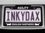 English Shepherd Agility License Plate Frames