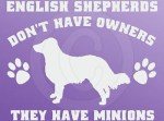 Funny English Shepherd Decals