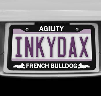 French Bulldog Agility License Plate Frame