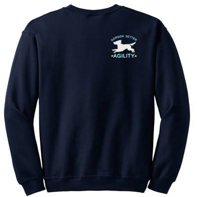 Embroidered Gordon Setter Agility Sweatshirt