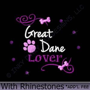 Rhinestone Great Dane Gifts