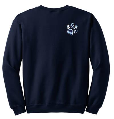 Blue Urban Camo Paw Print Sweatshirt