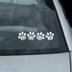 Dog Paw Prints Stickers