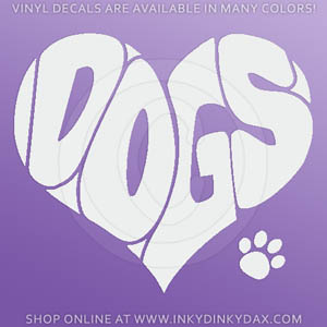 Love Dogs Decal