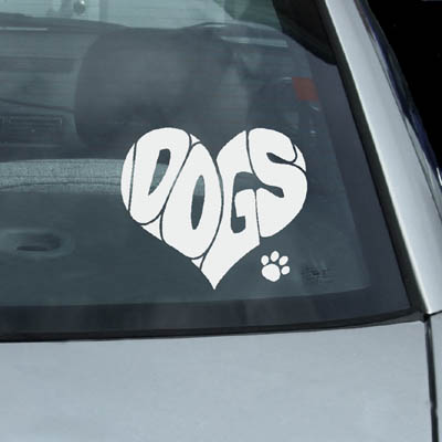 Dogs Heart Decal