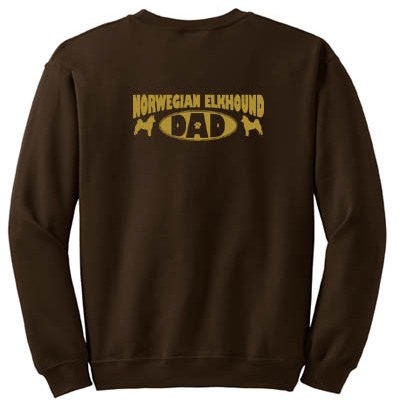 Norwegian Elkhound Dad Sweatshirt