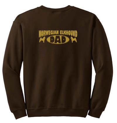 Norwegian Elkhound Dad Sweatshirt